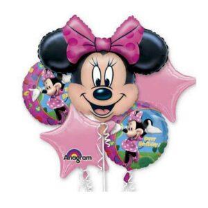 Minnie Mouse Happy Birthday Balloon Bouquet
