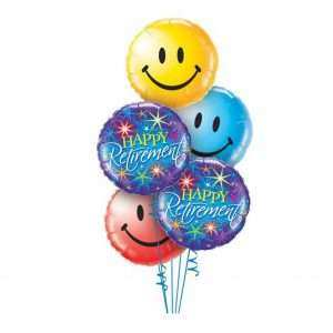 Happy Retirement Smiles Balloon Bouquet