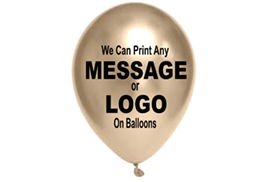 Custom Printed Logo & Personalised Message Balloons