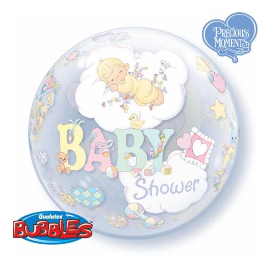 Precious Moments Baby Shower Cakes: Precious Moments Baby Shower Bubble Balloon